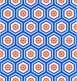 Geometric hexagon seamless pattern vector image