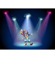 A clown at the center of the stage vector | Price: 1 Credit (USD $1)
