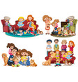 a set of family member vector image vector image