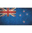 Abstract Mosaic Flag of New Zealand vector image vector image