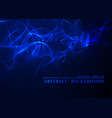 abstract smoke wavy blue background vector image vector image