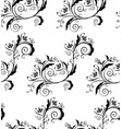 black floral ornament vector image vector image