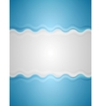 Blue grey abstract wavy background vector image vector image