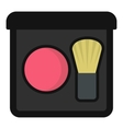 Blush icon flat style vector image vector image