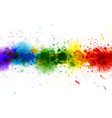 bright watercolor stains paint splashes background vector image