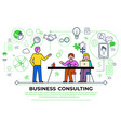 business consulting people at seminar meeting vector image