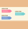 business infographic step design flat vector image