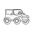 car jeep isolated icon vector image