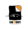 car wrapz logo design vector image vector image