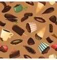 Chocolate sweets background vector image vector image