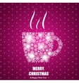 Christmas Coffee Cup Background vector image vector image