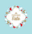 christmas sale and celebration poster vector image vector image