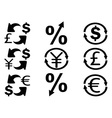 Currency Exchange icons set vector image