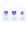 cyber technology thin line icons set vr virtual vector image