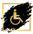 disabled sign golden icon at vector image vector image