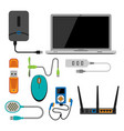 electronic gadgets icons technology electronics vector image vector image