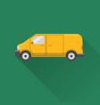 flat style minivan car icon vector image