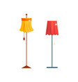 floor lamps old unnecessary thing garage sale vector image