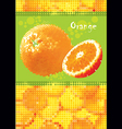 fresh orange menu vector image vector image