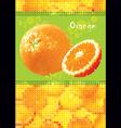 fresh orange menu vector image vector image