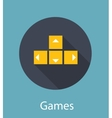 Games Flat Concept Icon vector image