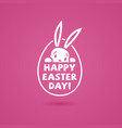 happy easter day postcard vector image