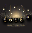 happy new year baubles background vector image vector image
