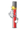 have an idea lip gloss above cartoon makeup table vector image vector image