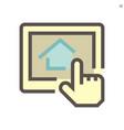 housing development concept icon design vector image vector image