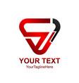 initial letter sj logo design template element vector image vector image