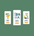 litter industry eco protection mobile app page vector image vector image