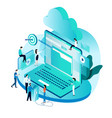 modern isometric concept for cloud computing vector image vector image