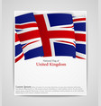 national flag brochure of united kingdom vector image