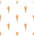 olympic torch icon in cartoon style isolated on vector image vector image