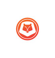 orange lion head and face for logo design animal vector image vector image