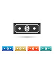 paper money american dollars cash icon isolated vector image