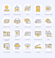printing house flat line icons print shop vector image vector image