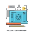product development concept vector image vector image