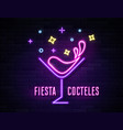retro neon wine glass sign on wall background vector image vector image