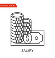 salary icon thin line vector image vector image
