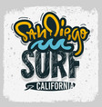san diego california surfing surf design ha vector image