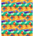 Seamless pattern with hand-drawn flat colorful vector image