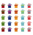 set of bright gifts vector image vector image