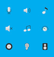 set of simple music icons vector image vector image