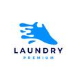 shoe laundry wash clean water splash logo icon vector image