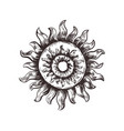 sketch symbol of the sun pagan sun vector image vector image