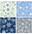 Snowflakes seamless set vector | Price: 1 Credit (USD $1)