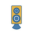 sound speaker icon vector image vector image