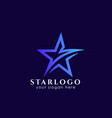 star logo design stock template star icon vector image vector image