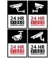 Stickers camera surveillance set vector image vector image